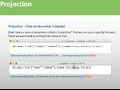 NoSQL Open Source Database MongoDB Session #2 part 3 Projection & Cursor