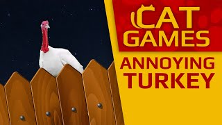 CAT GAMES - 🦃 Annoying Turkey (Thanksgiving day for Cats) 1 Hour 4K