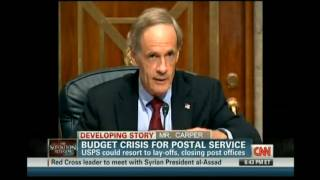 Sen. Tom Carper Discusses the Postal Service on CNN