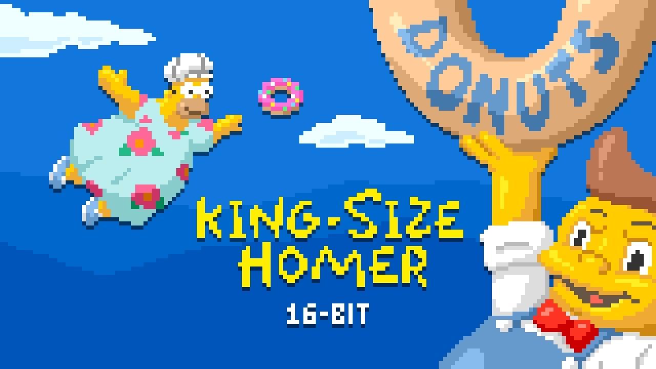 Simpsons 16 Bit King Size Homer