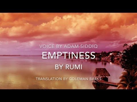 Rumi Poem (English) - Emptiness