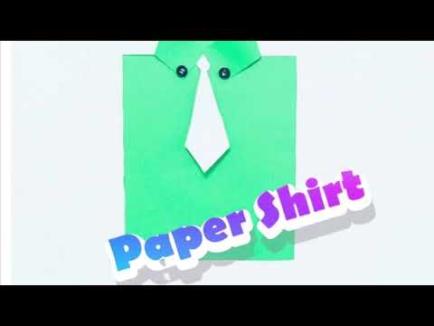 DIY Kids Craft - Paper Shirt
