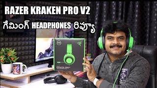 Razer Kraken V2 Gaming Headphones Review ll in telugu ll