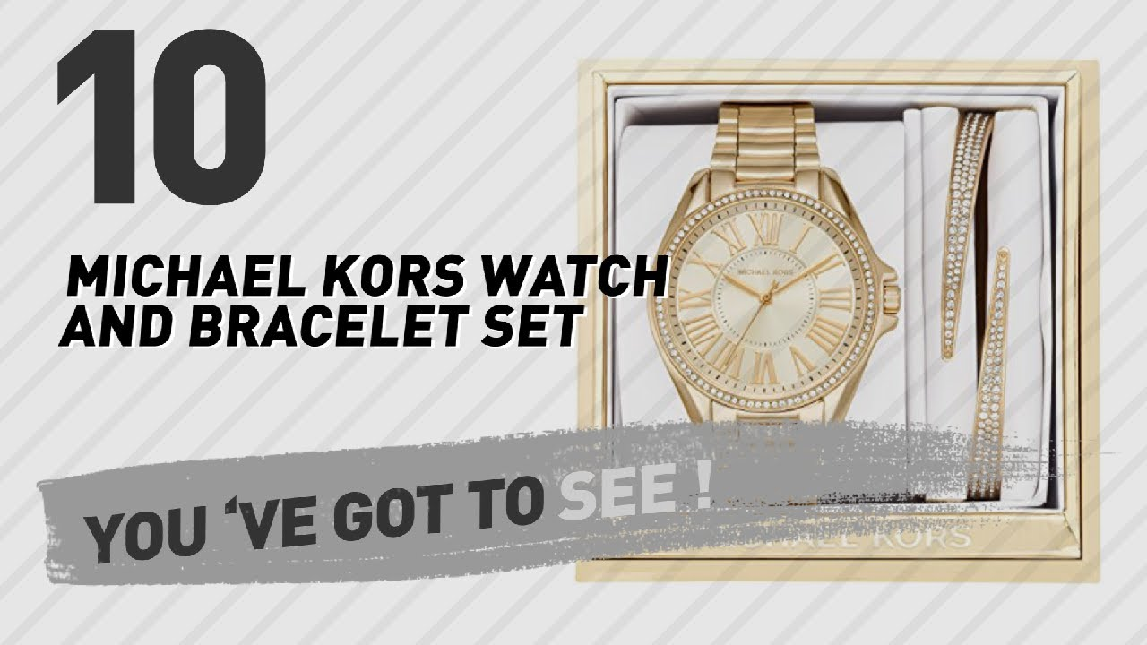 cfcafa3d9f75 Michael Kors Watch And Bracelet Set    New   Popular 2017 - YouTube