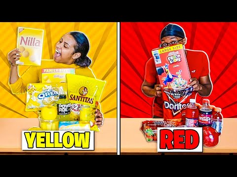 EATING ONLY ONE COLOR FOOD FOR 24 HOURS !!