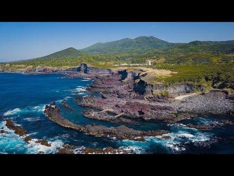 [ 4K UHD ]絶景空撮:伊豆大島ジオパーク IZU-OSHIMA-island Geopark,Tokyo,Japan(AERIAL DRONE Shot)