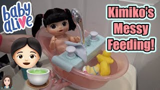 Video Baby Alive Kimiko's First Messy Feeding & Bath | Kelli Maple download MP3, 3GP, MP4, WEBM, AVI, FLV Januari 2018
