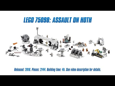 'Lego Star Wars 75098: Assault on Hoth' Unboxing, Speed Build & Review