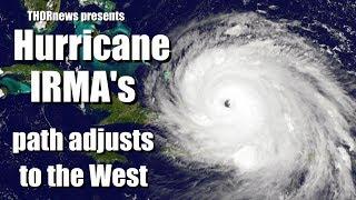 Major Hurricane Irma's Track adjusts West -Worst Case Scenario for Florida