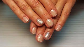 Дизайн ногтей Shellac слайдер дизайн технология (уроки дизайна ногтей nail art design tutorial)