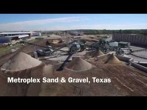 Metroplex Sand & Gravel drone wash plant video