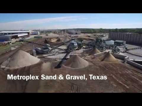 Metroplex Sand & Gravel drone wash plant video