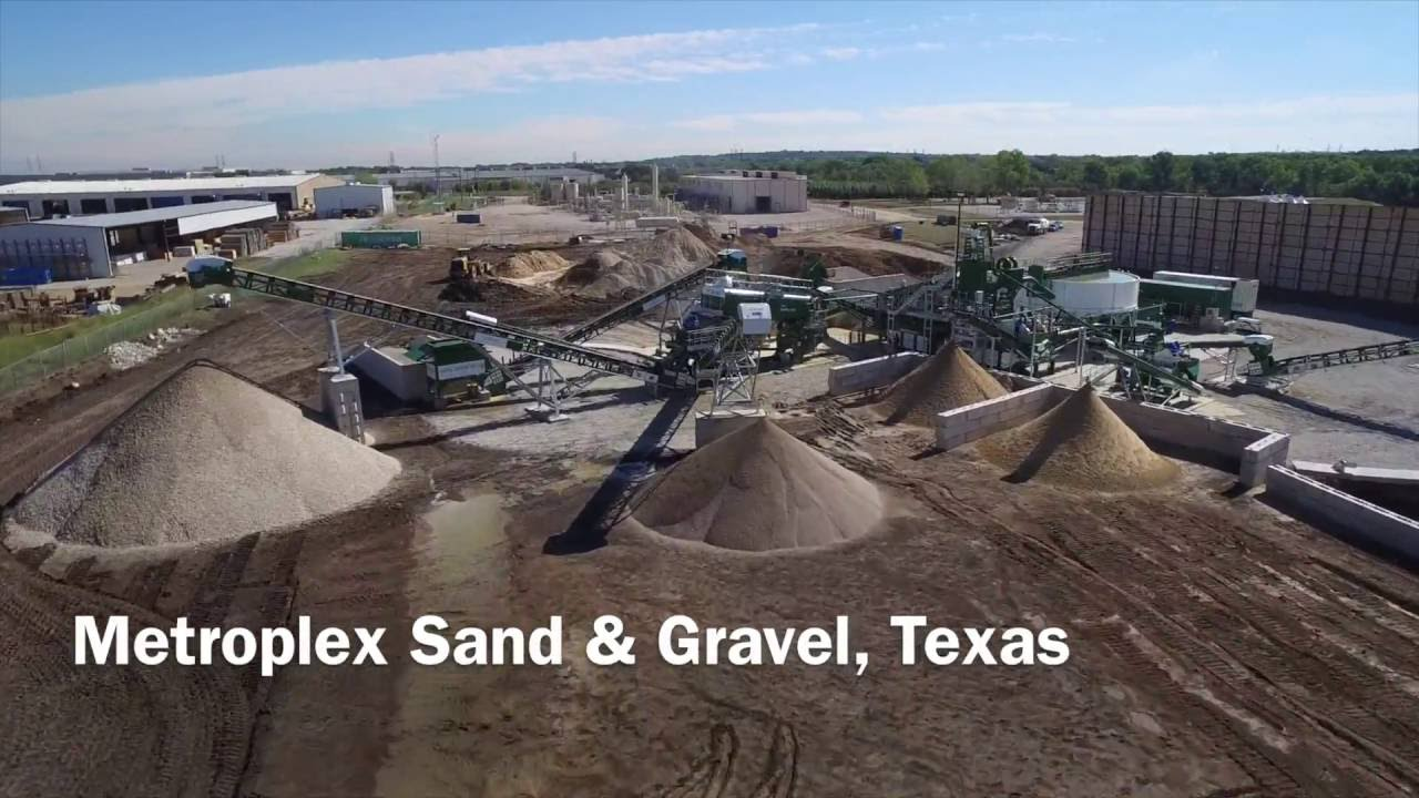 Metroplex Sand Amp Gravel Drone Wash Plant Video Youtube