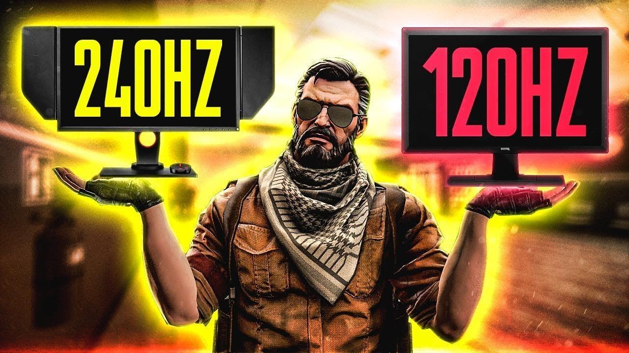 AIM CHALLENGE ON 120 HZ VS 240 HZ MONITOR!