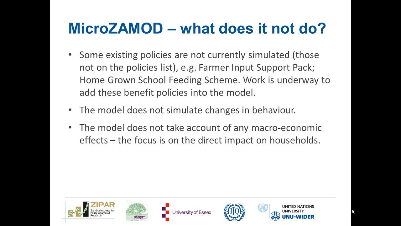UNU-WIDER : MicroZAMOD – simulating tax and benefit policies