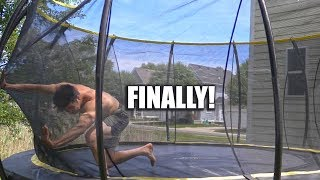 Way Less Scared on Trampoline After This...