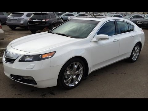 Pre Owned White On Black 2014 Acura Tl 4dr Sdn Auto Sh Awd