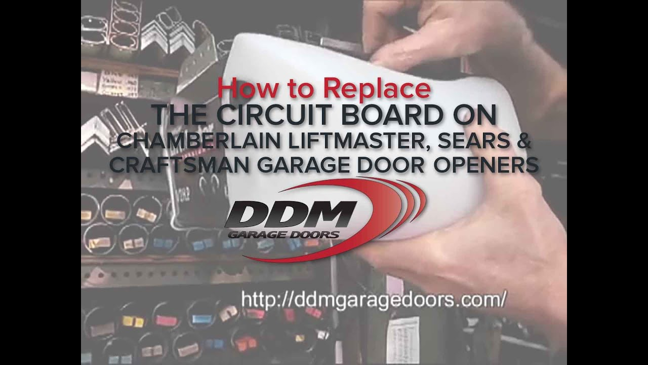hight resolution of how to replace the circuit board on chamberlain liftmaster sears and craftsman garage door openers