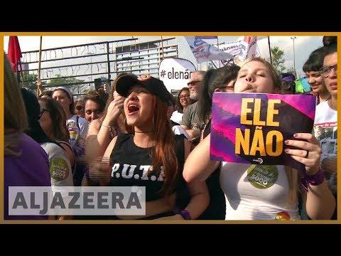 🇧🇷 Brazil: Thousands of women rally against far-right Bolsonaro | Al Jazeera English