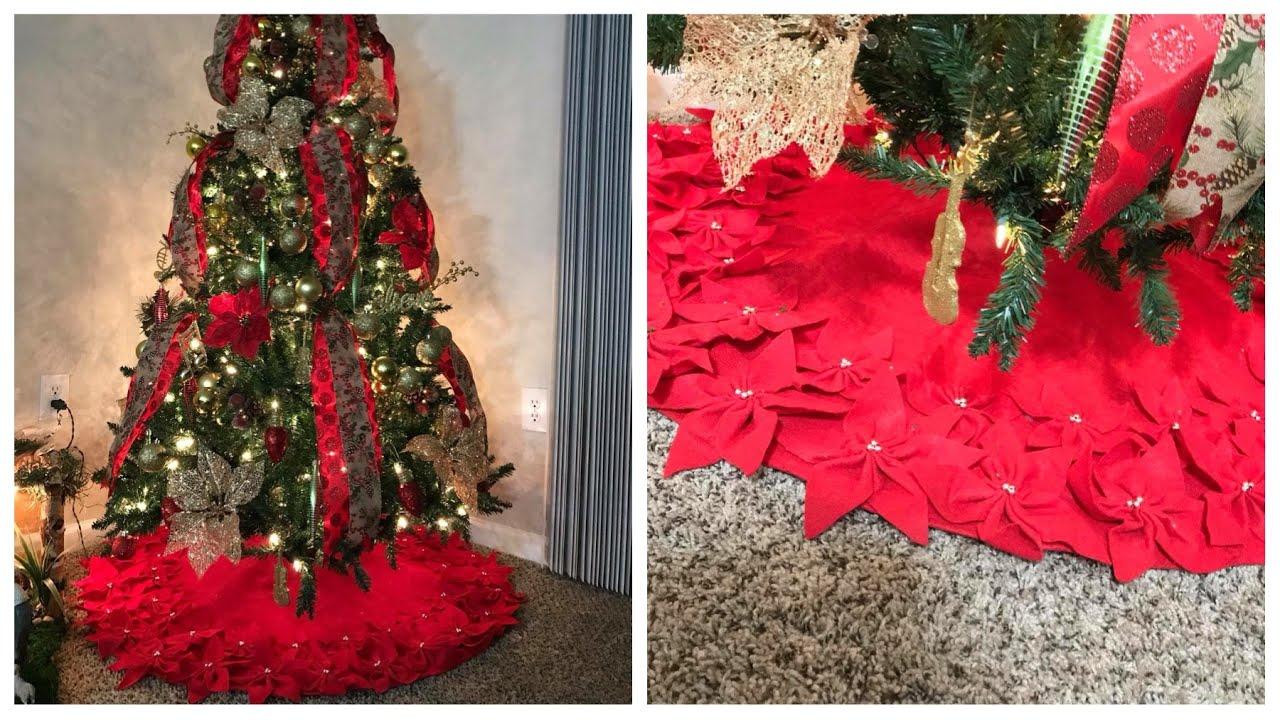 Diy falda para arbol de navidad skirt tree youtube - Arbol tipico de navidad ...