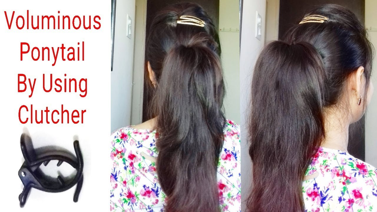 How To Tuck Clutcher To Get Voluminous Thick Ponytailclutcher