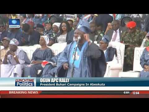 Ogun APC Rally Turns Rowdy As Angry Crowd Boos, Stones Oshiomhole |Lunchtime Politics| thumbnail
