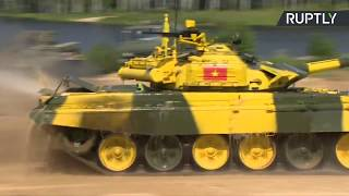Sexta jornada de la competición del biatlón de tanques