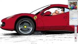 Pau- How to draw a Ferrari 458 Italia
