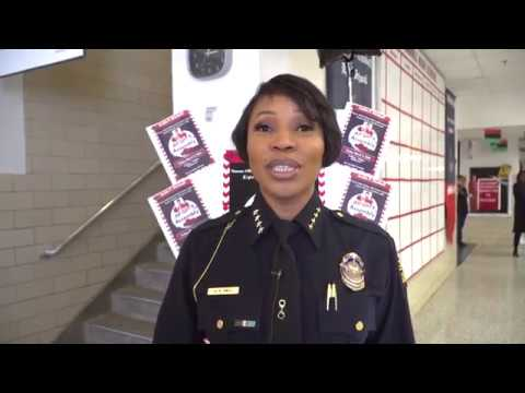Dallas Police Chief Speaks at All-Girl Assembly