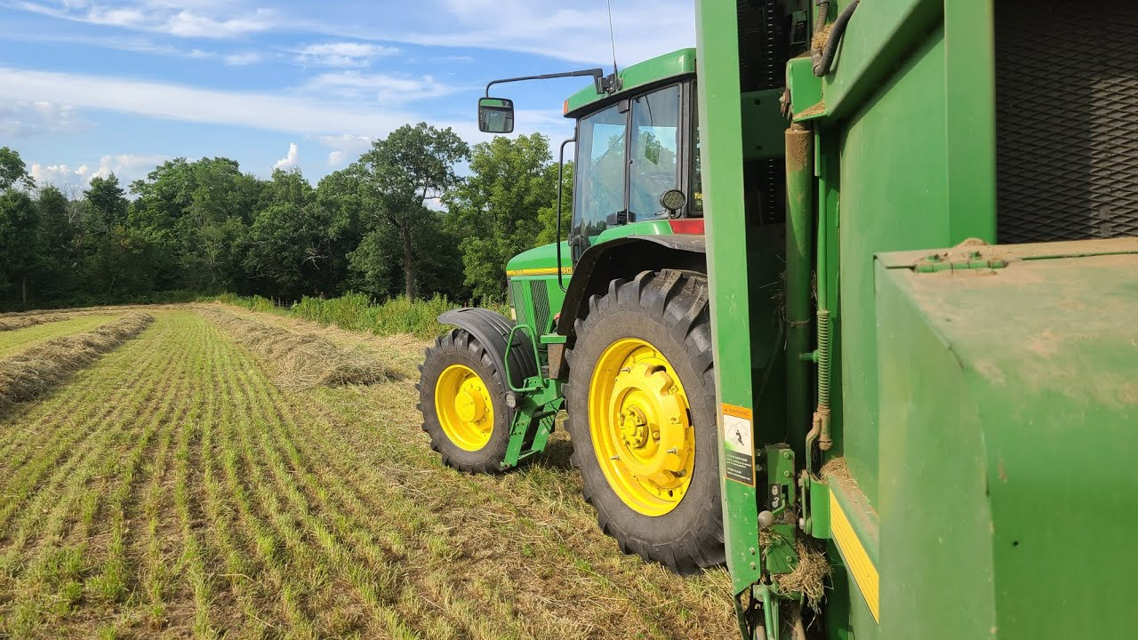 Letting The Dust Roll   Baling Second Crop Hay