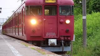 七尾線 415系 南羽咋 到着~発車まで
