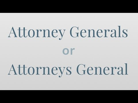 Is It 'Attorney Generals' Or 'Attorneys General'? - Merriam-Webster Ask the Editor