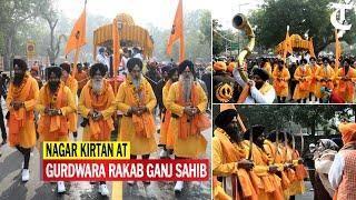 New Delhi: Nagar kirtan organised at Gurdwara Rakab Ganj Sahib ahead of Gurpurab
