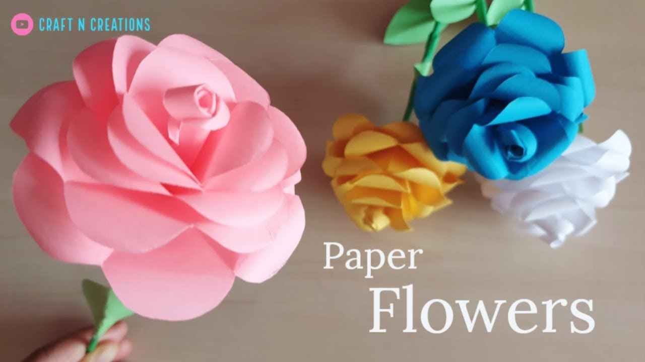 how to make paper flowers for valentines