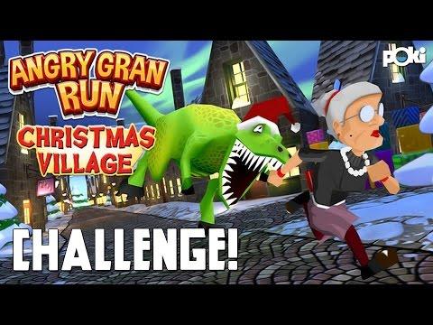 Angry Gran Run: Christmas Village Challenge!
