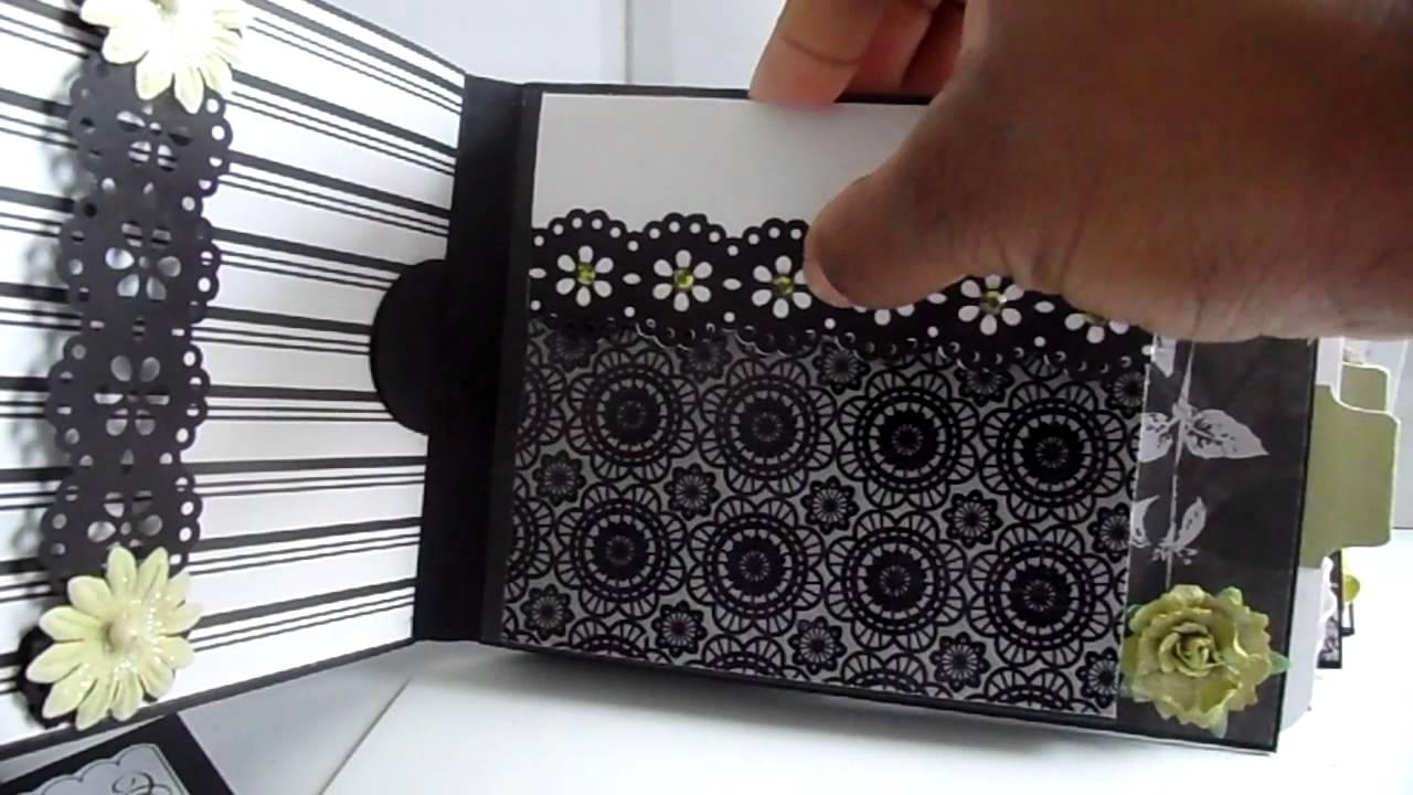 How to scrapbook wedding album - Wedding Mini Album Black White