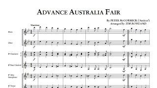 Advance Australia Fair Concert Band Arr Tim Rowland Grade