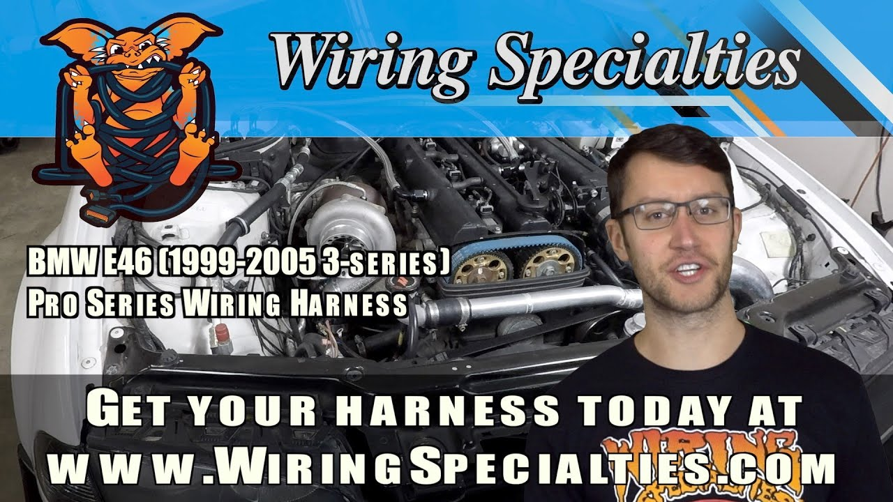 new bmw e46 pro series wiring harness from wiring specialties [ 1280 x 720 Pixel ]