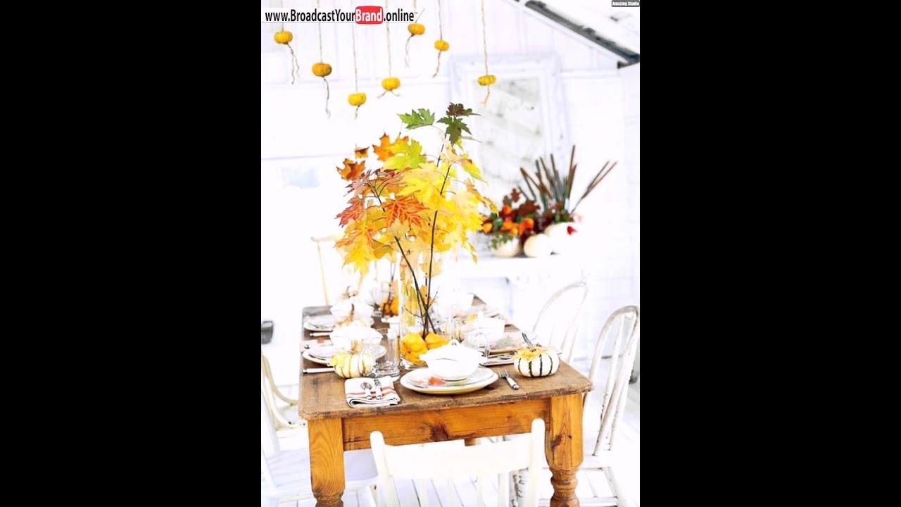 Herbst Deko Ideen Basteln Kürbisse Rustikale Küche Vintage Stühle ...
