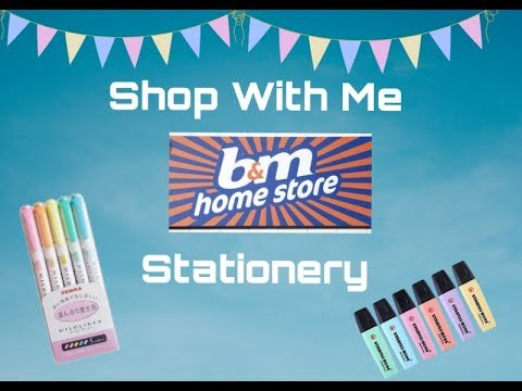 Stationery at  B&M -  Shop with me