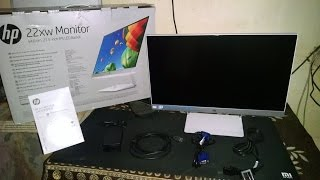 Hp 22xw IPS Backlit LED monitor Unboxing