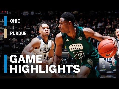 Highlights: Ohio at Purdue | Big Ten Basketball