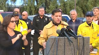 California officials give update on dangerous wildfires