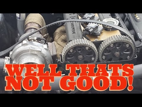 4G63 SWAPPED CONQUEST TIMING BELT SNAPS!