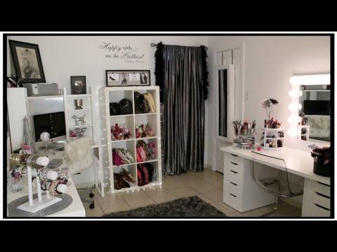Room tour cuarto de maquillaje oficina y grabaci n for Cuarto para las 6