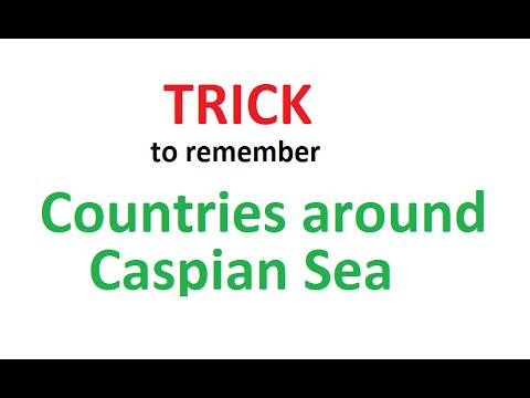 MEMORY Trick to remember Countries around Caspian Sea