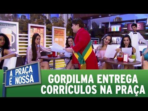 A Praça é Nossa (03/11/16) - Gordilma entrega currículos na praça