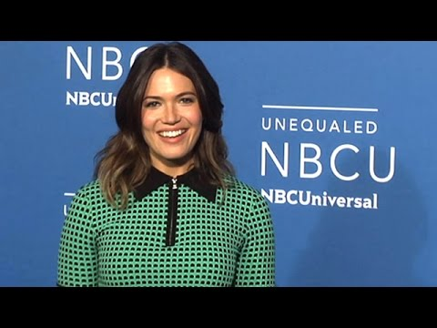 Mandy Moore Goes Green For NBC Universal Upfront In NYC