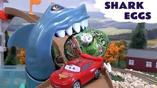 Shark Attack Kids Kinder Surprise Eggs Cars Hot Wheels Super Hero Thomas The Train Toys Iron Man