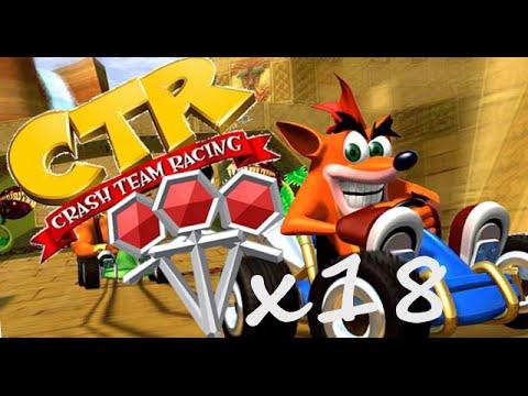Crash Team Racing (CTR) All 18 Platinum Relics